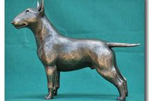 Bull Terrier Sculpture