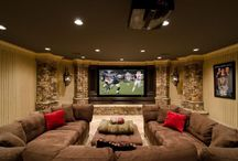 Basement remodeling Theatre