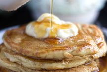 Breakfast / Breakfast on the weekends is our favorite thing to do as a family. Our favorite cheat meal to do at home.