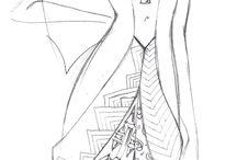 Sketches / Fashion Costume Design #fashion #moda #fashiondesign #design #fashiondesigner #designer #style #look #art