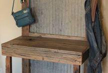 Wood and corrugated zink