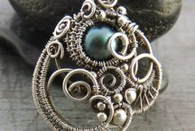 Wired Gems / A collection of wire worked beauties.
