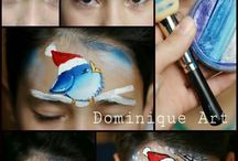 Eyore`s face painting