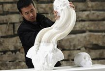 Li Hongbo / Flexible Honeycomb Paper Sculptures by Li Hongbo