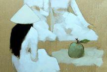 Paintings, people