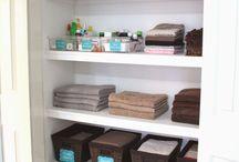 Organised linen closet