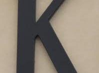 K is for Kinder / by Maleia Kinder