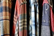 flannels and plaids and boots and whatnot / Grunge, flannels, plaids, boots, band tees, torn jeans.