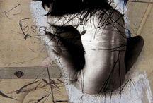 Peintures nus danse / Sur toile et sur papier