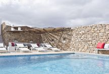 Villa Panos 2 #Mykonos #Greece #Island / These two bedroom villas are part of a gated community of eleven villas on the famous World Mykonos island, overlooking the bay of Panormos with spectacular views over the bay , beach and wild hills. https://www.mygreek-villa.com/rent-villa-search/villa-panos-2