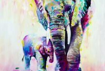 elefante mama y bebe