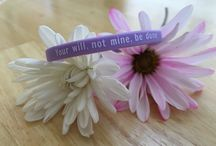 "SHOP:  ""Your Will"" Bracelet / ""Your Will, Not Mine, Be Done"" Bracelet. Read the story behind the bracelet and how I wore it as an appendage so that I could get through one of the toughest times in my motherhood journey."