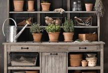 Getting Organised in the Potting Shed / Preparing for the new garden year in the vegetable garden.  Be ready for onslaught of the busy sowing and planting season.  Get inspired by these pins.