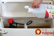 čištění nádržky wc