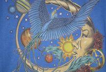 Sun+Moon+Stars / Интересные иллюстрации. Стилизованные изображения для декора.