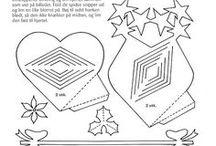 Papír csillag hajtógatos