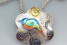 pendants with birds