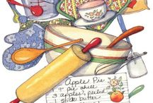 Иллюстрации: посуда, еда