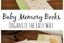 Baby books and memory keepers