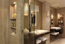 model muur badkamer