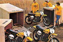 Suzuki Motocross Bikes / Collection of Suzuki Motocross race bikes