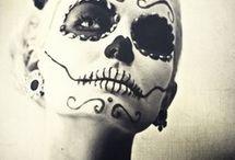 Candy skull make up