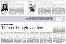 Instinto de librera. / A partir de octubre de 2014 estaremos cada quince días en el suplemento «Artes y Letras» de Heraldo de Aragón. Eva Cosculluela irá contando las novedades que llegan a la librería en su columna «Instinto de librera».