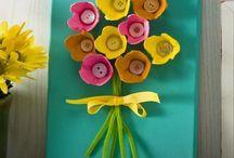 Æggekarton blomst