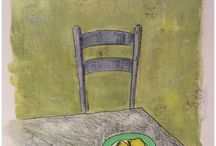 Liz Wellby - mono prints