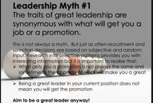 Leadership myths / Thoughts about misconceptions about leaderships.