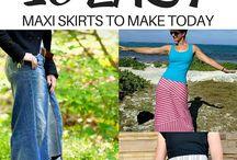 DIY & Tutorial - SKIRT, Pants & Short