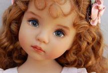 enfants aux visages réalistes poupées de collection
