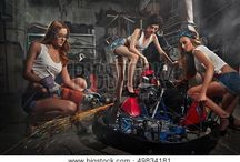 girl Mechanic tool