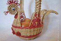 PLETENÍ z PAPÍRU...Inspirace : Velikonoce