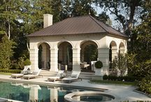 ! ~Inspiration-Pools and Pool Houses~ ! / pools, pool houses. pool ideas, pool house, outdoor living area, outdoor dining area