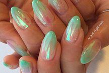 glass nails / glass nails art