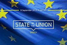 SOTEU 2015 - czyli orędzie o stanie Unii Europejskiej / - To czas, w którym musimy porozmawiać o wielkich wyzwaniach, przed jakimi stoi Unia Europejska – mówił Jean-Claude Juncker w swoim pierwszym Orędziu o stanie Unii. Jego wystąpienie w Parlamencie Europejskim w Strasburgu w dużej części dotyczyło kryzysu związanego z falą uchodźców – szef Komisji Europejskiej zaproponował przyjęcie kolejnych 120 tys. imigrantów. Z tej grupy do Polski miałoby trafić ponad 9 tys. osób. Czytaj więcej tutaj ➡ http://bit.ly/SOTEU2015PL