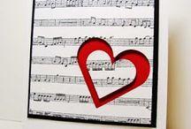 Notenkarte mit  Herz