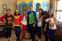 Superhero Dentists / On October 30, 2013, our office got suited up for a super day at the dentist's office.