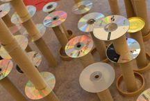 Recycled CD Craft ~ Kreasi CD Bekas