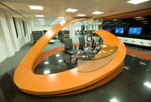 Thermoformed Reception Desk / Thermoformed and manufacured onto a steel frame is this magnificent reception desk