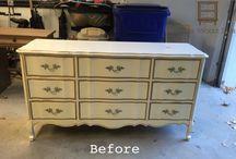 Refinish bedroom furniture