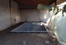 Indoor pool / Construction of an indoor swimming pool 3,5mX5,5m with steel panels and liner.