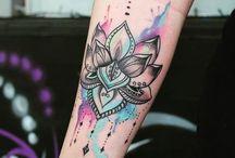 watercolor tatouage