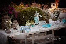 Seaside wedding decoration in Athens, Greece