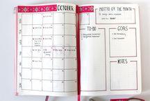 Bullet Journal & Terminkalender / So bleibst du organisiert: Inspiration und Tutorials für das perfekte Bullet Journal und den Terminkalender.