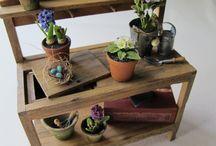 miniature potting table