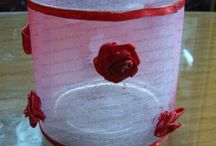 Glass Red Rose Votive