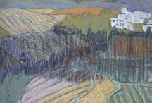 пастель, акрил / живопись, на стене и холсте