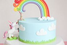 Unicorn and Rainbow cakes